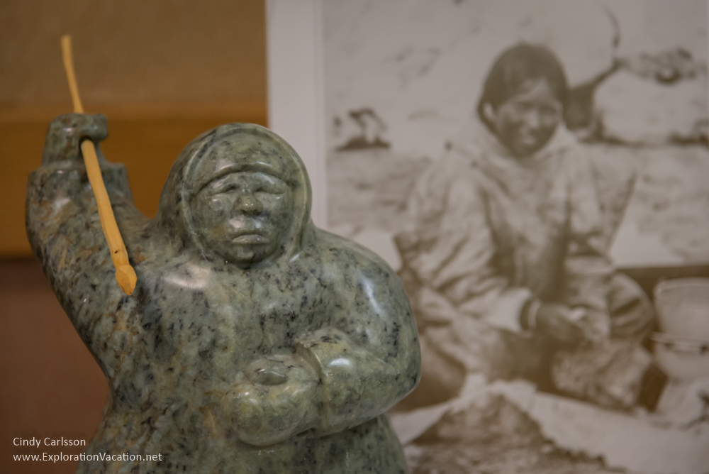 Inuit art for sale in the marketplace - photo by Cindy Carlsson