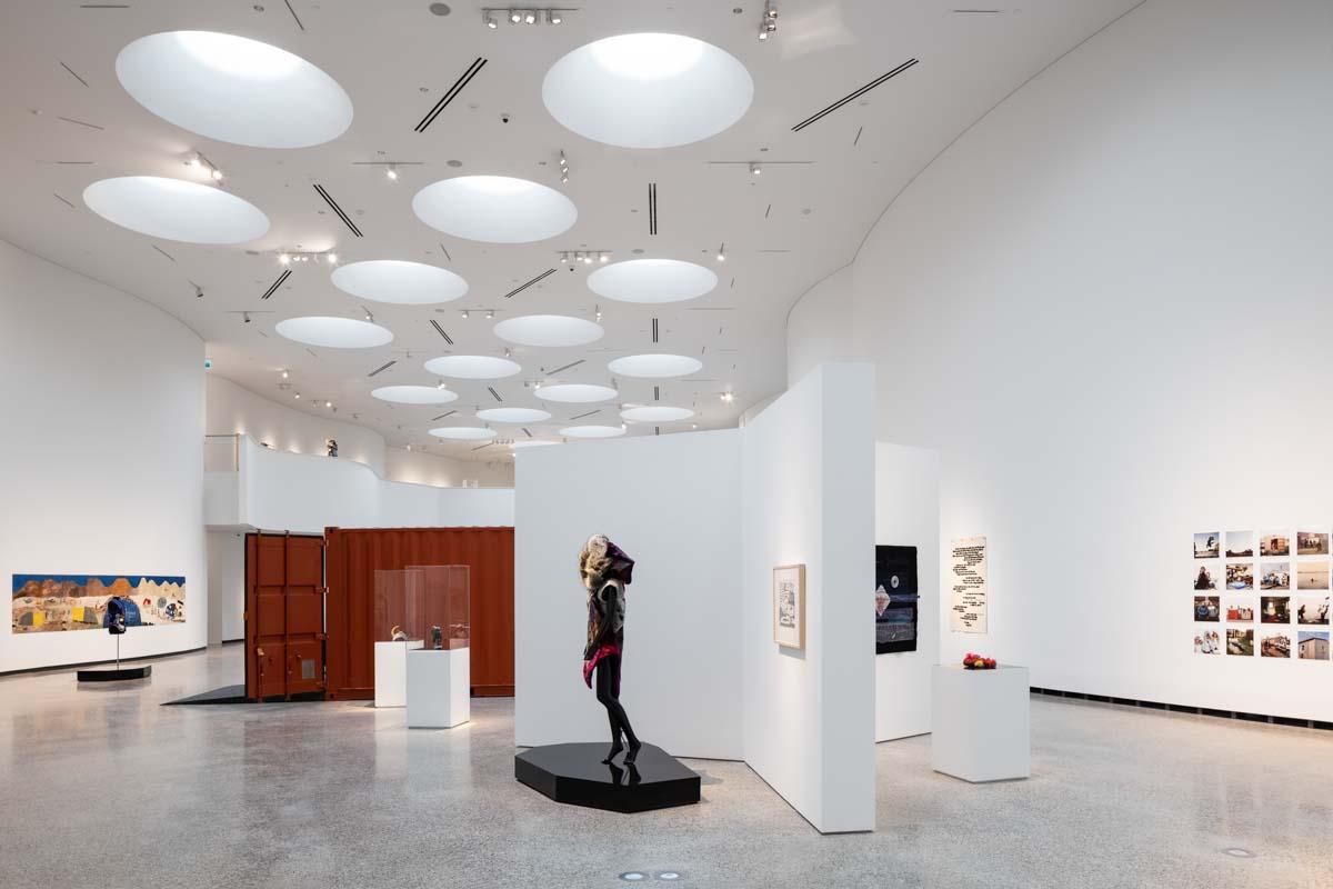 main gallery at the Inuit art center in Winnipeg